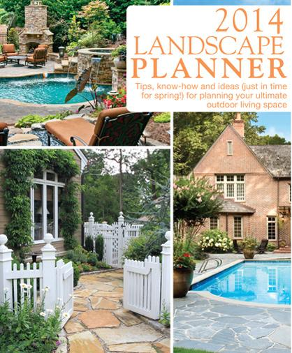 Cover of Atlanta Landscape Planner showing pools, hardscapes, driveways, flowers