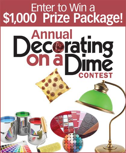 Decorating on a Dime contest promo