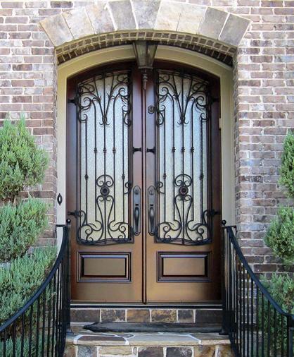 Handcrafted, custom-made front doors