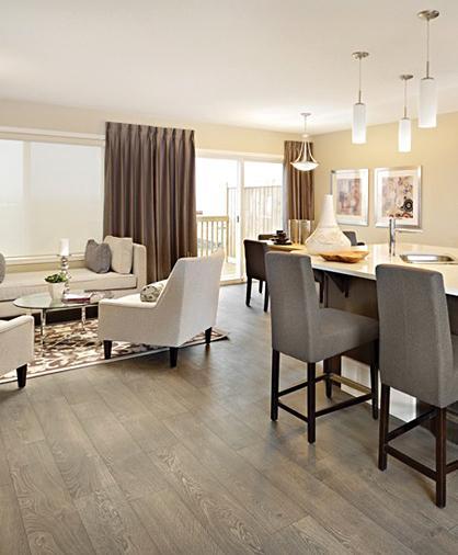 Hardwood floor in living room