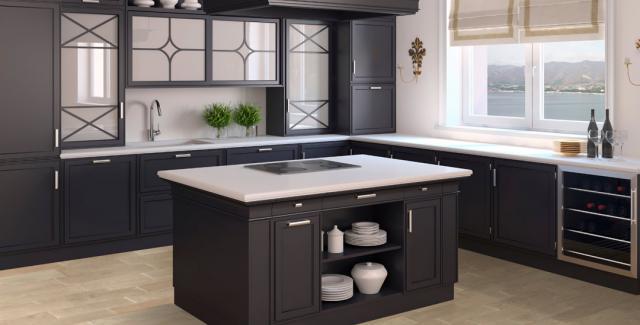 Granville Grey Floating Hardwood in Kitchen
