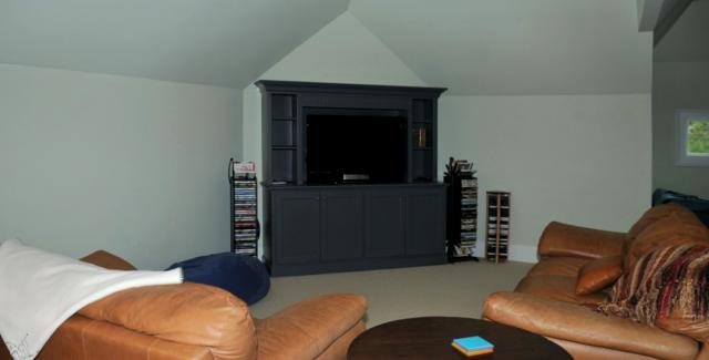 Remodeled attic provides additional space for a family room
