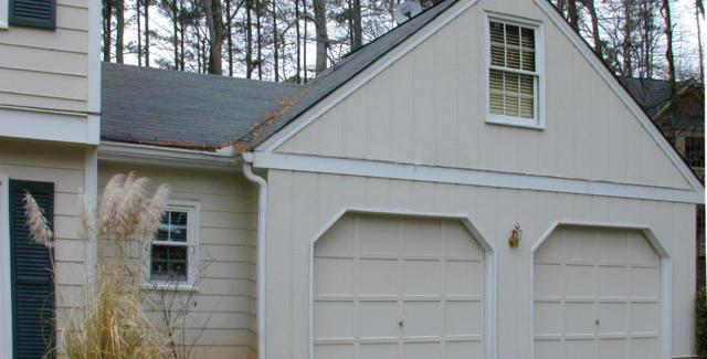 Exterior - before attic remodel