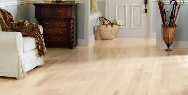 Blond hardwood floor