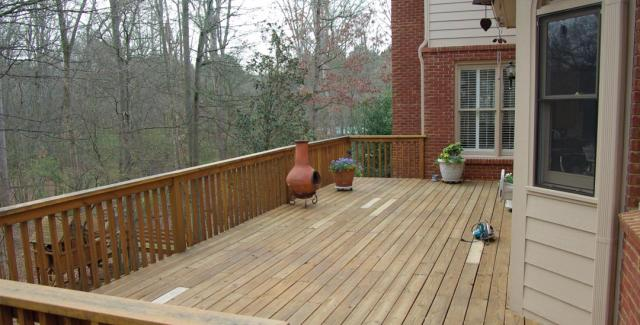 This is the photo of the deck before it was remodeled