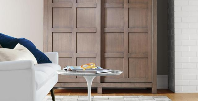 Armoire with sliding doors