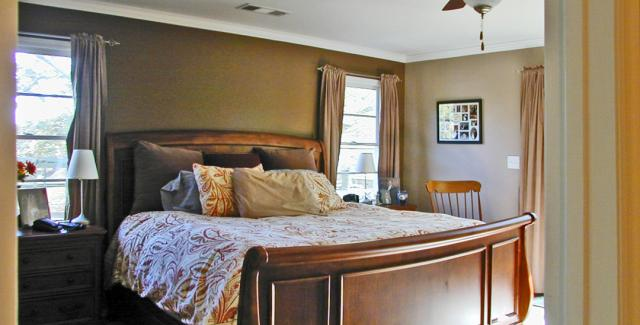 Master bedroom on second-story