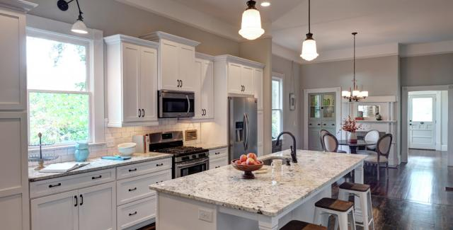 Kitchen view of remodeled cottage in Candler Park