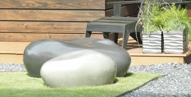 Unique outdoor furniture can also be used as art