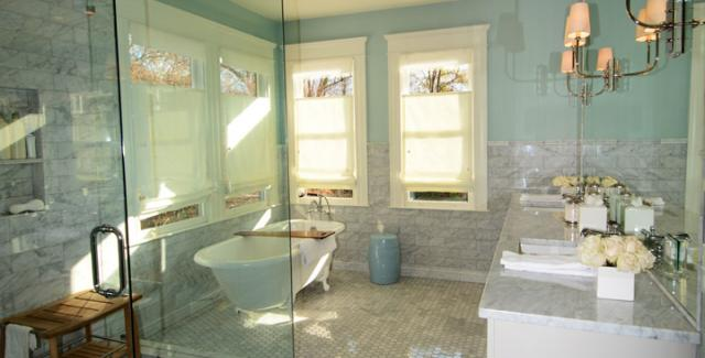 Remodeled bathroom in Midtown