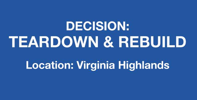 Decision to teardown and rebuild home