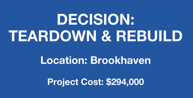 Brookhaven location-teardown and remodel