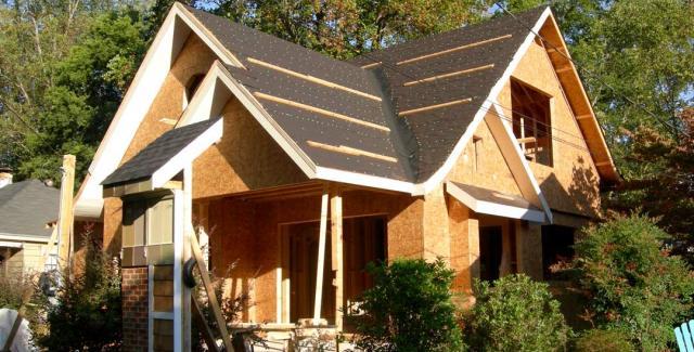 Rebuilding of house in Virginia Highlands in progress