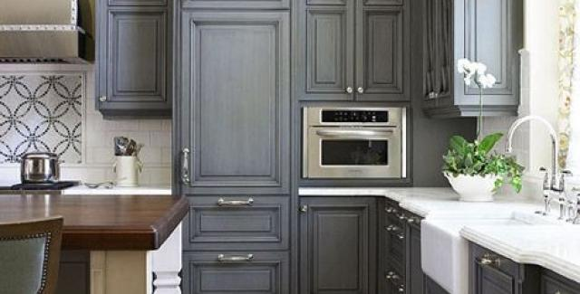 Tile floor designer kitchen