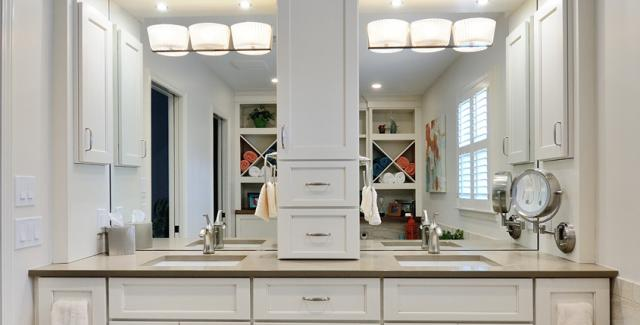 Double Sink Vanity With Center Tower MonclerFactoryOutletscom - Double sink vanity with center cabinet