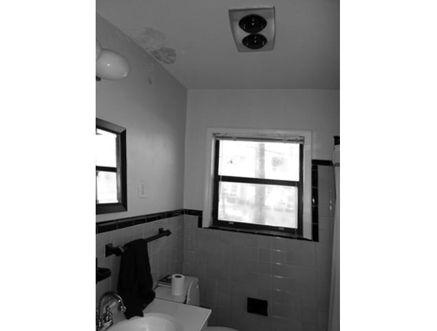 Before view of outdated bathroom