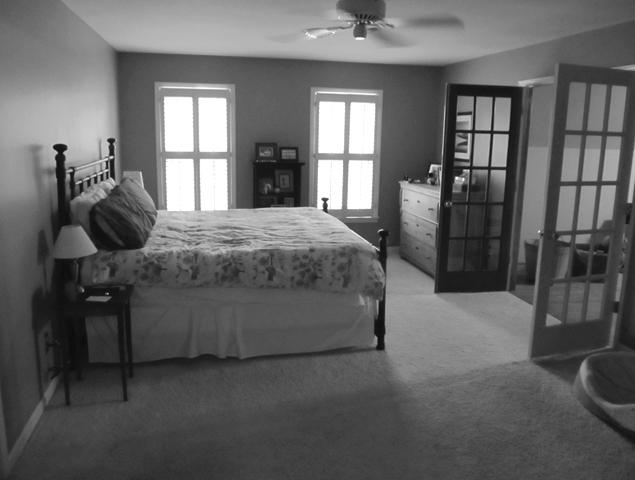 Close up view of previous master suite