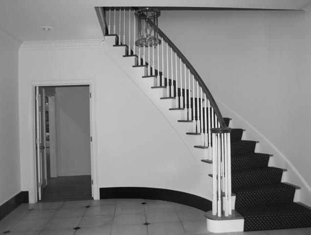 Close up of previous staircase