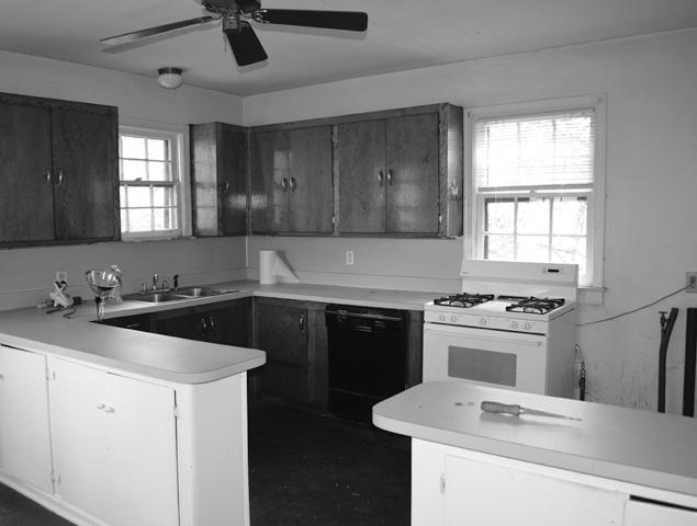 Before view of the damaged and concerning kitchen