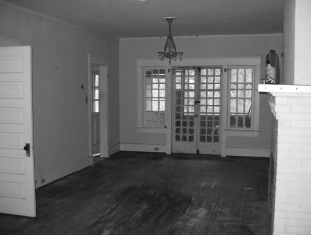 Before view of enclosed room