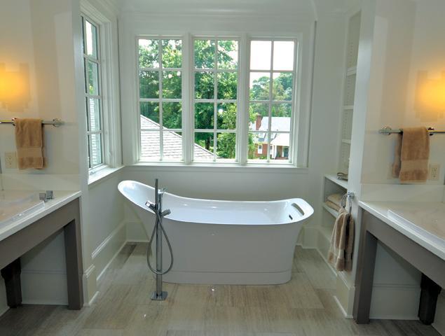 Double vanity updated bathroom