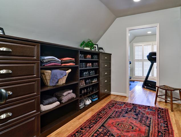 View of walk-in closet and part of exercise room