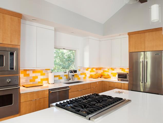 Updated view of modernized kitchen