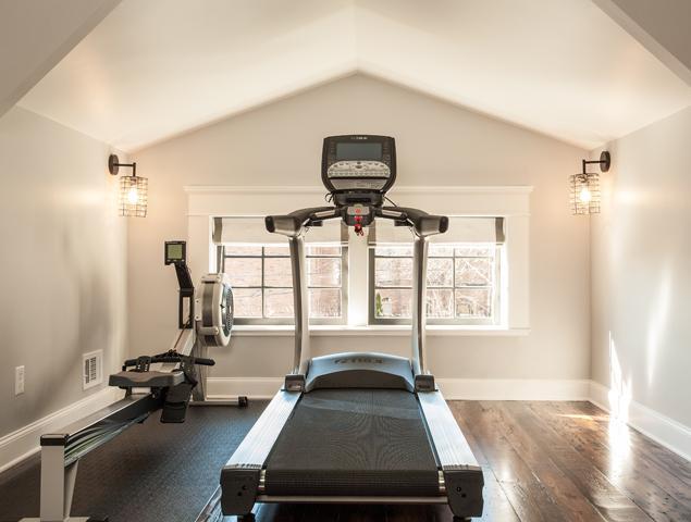 Attic exercise room