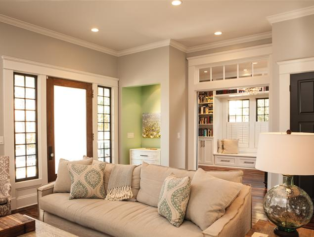 Open living room with natural light