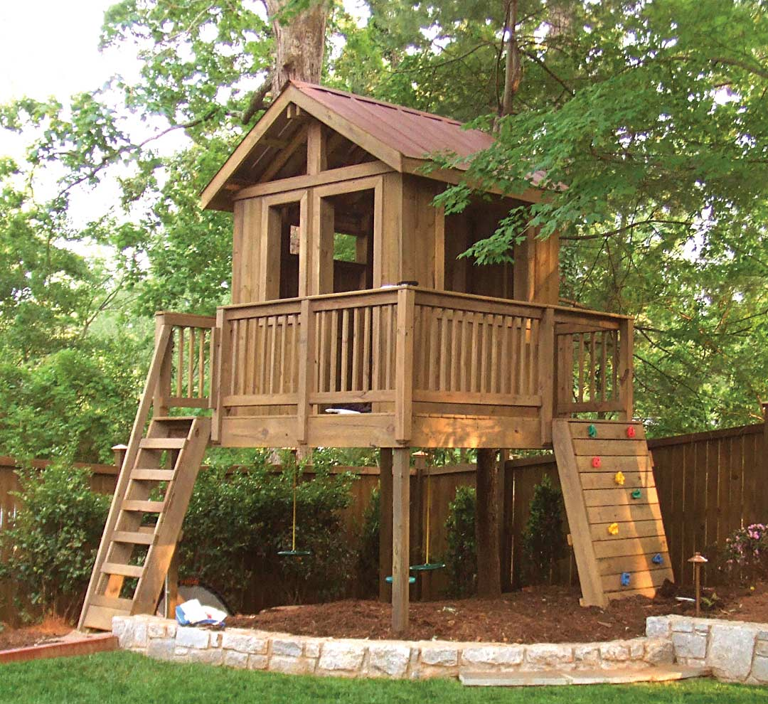 backyard play spaces in atlanta from tree houses to playing