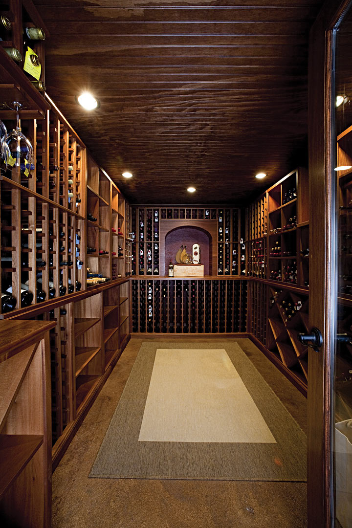 wine cellar photo courtesy of mosaic group architects and remodelers